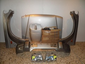 Hyundai galloper μετώπη εμπρός κομπλέ ασημί