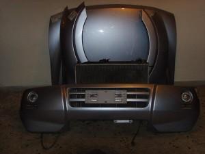 Mitsubishi pajero 5θυρο 03-07 μετώπη εμπρός κομπλέ ασημί