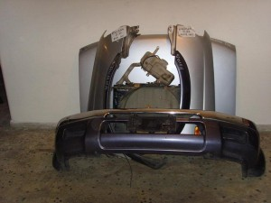 Nissan navara d22 98-01 μετώπη εμπρός κομπλέ ασημί
