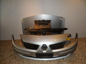 Renault megane cabrio 03-06 μετώπη εμπρός κομπλέ ασημί