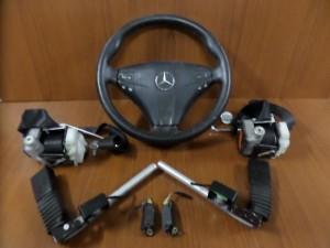 Mercedes w203 lift 2θυρο 01-08 airbag μαύρο