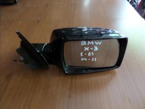 BMW X3 E83 2003-2010 ηλεκτρικός καθρέπτης δεξιός μπλέ σκούρο (5 καλώδια)