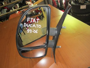 Fiat ducato 99-06 απλός καθρέπτης αριστερός άβαφος (διπλό τζάμι)