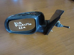 Kia picanto 2011 μηχανικός καθρέπτης αριστερός μαύρος