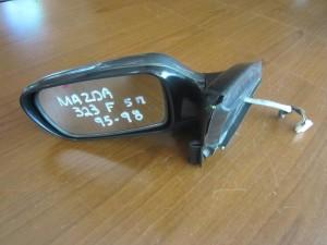 Mazda 323F 95-98 5θυρο ηλεκτρικός καθρέπτης αριστερός σκούρο ασημί