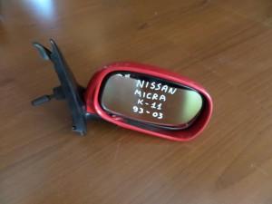 Nissan micra k11 93-03 μηχανικός καθρέπτης δεξιός κόκκινος