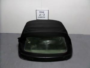 BMW Z3 1996-2002 κουκούλα ουρανού με πλαστικό μαύρη