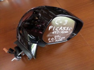 Citroen C3 Picasso 2009-2017 ηλεκτρικός ανακλινόμενος καθρέπτης δεξιός μαύρος (11 καλώδια)