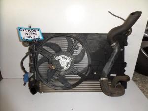 Citroen Nemo 2007-2015 Fiat Fiorino-Qubo 2008-2017 1.4cc diesel ψυγείο κομπλέ (νερού-aircondition-βεντιλατέρ-intercooler)