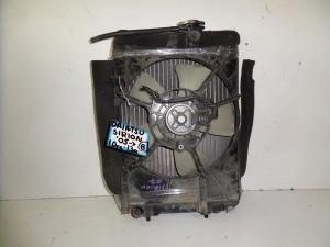 Daihatsu sirion 2004-2011 1.0cc-1.3cc βενζίνη ψυγείο κομπλέ (νερού-βεντιλατέρ-air condition)