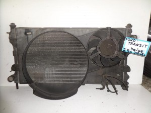 Ford transit 00-06 2.4cc diesel ψυγείο κομπλέ (νερού-air condition-βεντιλατέρ)