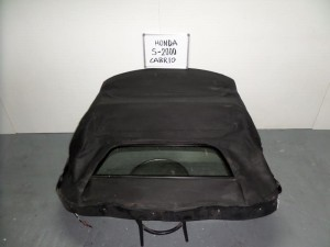 Honda S2000 01 κουκούλα ουρανού με τζάμι μαύρη με μοτέρ
