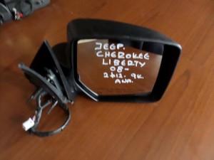 Jeep cherokee liberty 08 ηλεκτρικός ανακλινόμενος καθρέπτης δεξιός άβαφος (9 καλώδια-2φις)