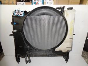 Kia sorento 02-10 2.4cc βενζίνη ψυγείο κομπλέ (νερού-παγούρι-μοτέρ-χοάνη-intercooler)