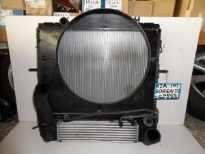 Kia sorento 02-10 2.5c diesel ψυγείο κομπλέ (νερού-aircondition-βεντιλατέρ-λαδιού-intercooler)