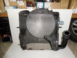 Kia sorento 02-10 2.5cc diesel ψυγείο κομπλέ (νερού-βεντιλατέρ-aircondition με βεντιλατέρ-intercooler)