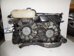 Lexus IS 250 00-07 2.2cc diesel ψυγείο κομπλέ (νερού-aircondition-βεντιλατέρ-intercooler)
