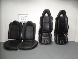 Mazda rx8 04 σέτ καθίσματα εμπρός-πίσω με airbag μαύρα (δερμάτινα-4 ταπετσαρίες-ηλεκτρικά)