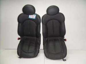 Mercedes clk w209 02 κάθισμα εμπρός με airbag αριστερό-δεξί γκρί σκούρο (δερμάτινα)