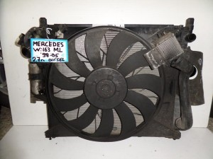 Mercedes Ml w163 98-05 2.7cc diesel ψυγείο κομπλέ (νερού-air condition-βεντιλατέρ-intercooler)