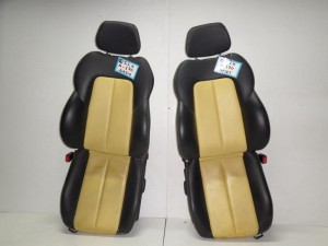 Mercedes Slk R170 03 κάθισμα εμπρός αριστερό-δεξί μαύρο-κίτρινο (δερμάτινα-ηλεκτρικά)