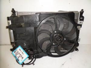 Mini cooper S 02-06 βενζίνη ψυγείο κομπλέ (νερού-air condition-βεντιλατέρ)