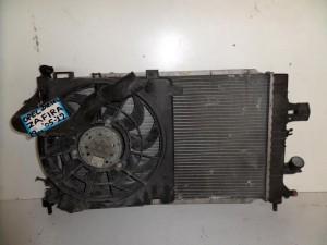 Opel zafira 05-12 1.7cc diesel ψυγείο κομπλέ (νερού-air condition-βεντιλατέρ-intercooler)