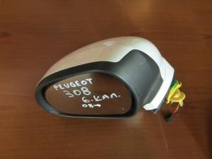 Peugeot 308 08 ηλεκτρικός καθρέπτης αριστερός άσπρος (6 καλώδια)