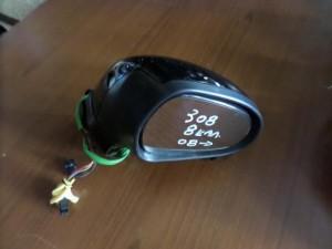Peugeot 308 08 ηλεκτρικός καθρέπτης δεξιός μαύρος (8 καλώδια)