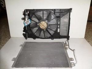 Renault megane scenic 99-03 1.4-1.6cc βενζίνη ψυγείο κομπλέ (νερού-air condition-βεντιλατέρ)