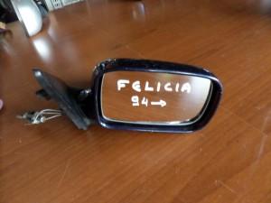 Skoda felicia 94 μηχανικός καθρέπτης δεξιός σκούρο μπλέ