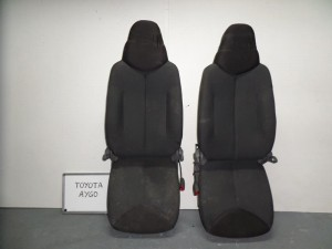 Toyota aygo-107-C1 3θυρο 06-12 κάθισμα με airbag εμπρός (οχι αριστερό) δεξί γκρί σκούρο