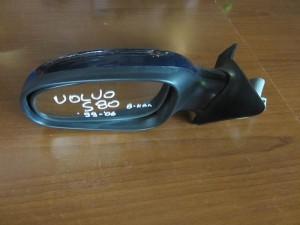Volvo S80 99-06 ηλεκτρικός καθρέπτης αριστερός σκούρο μπλέ (8 καλώδια)