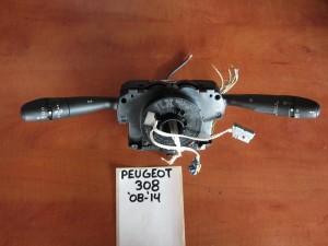Peugeot 308 08-14 διακόπτης φώτων-φλάς και υαλοκαθαριστήρων
