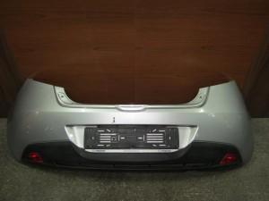 Mazda 2 2007-2014 πίσω προφυλακτήρας ασημί