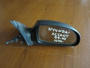 Hyundai accent 99-02 μηχανικός καθρέφτης δεξιός άβαφος