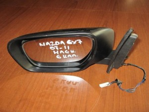Mazda CX7 07-11 ηλεκτρικός καθρέφτης αριστερός μαύρος (6 καλώδια)