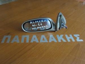 Nissan almera n16 2000- ηλεκτρικός ανακλινόμενος καθρέφτης αριστερός ασημί
