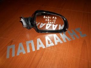 Audi A3 hatchback 2008-2010 καθρέπτης εξωτερικός δεξιός 6 καλώδια 3θυρο μαύρος