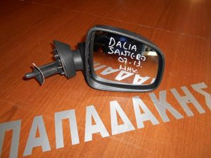 Dacia Sandero 2007-2012 Dacia Logan 2008-2012 καθρέπτης δεξιός μηχανικός άβαφος