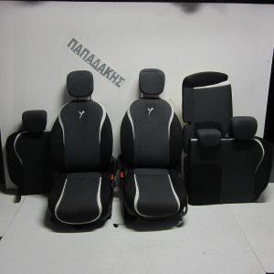 Lancia Y 2011-  ΣΕΤ καθισμάτων μαύρο με γκρι