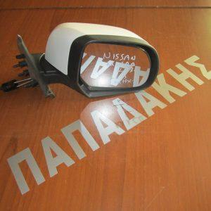 Nissan Micra K13 2011-2016 καθρέπτης δεξιός μηχανικός άσπρος