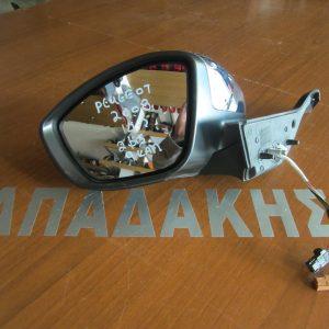 Peugeot 2008 2014- καθρέπτης αριστερός ηλεκτρικός ανακλινόμενος 2 φις 9 καλώδια νίκελ