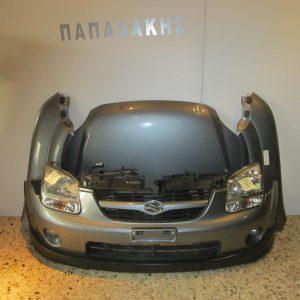 Suzuki Ignis 2003- μετώπη-μούρη κομπλέ μολυβί (καπώ-2 φτερά-2 φανάρια-προφυλακτήρας-ψυγείο νερού κ ψυγείο A/C με βεντιλατέρ)