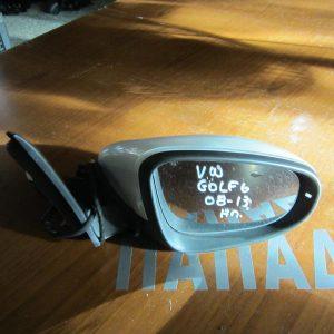 VW Golf 6 2008-2013  καθρέπτης δεξιός ηλεκτρικός 6 καλώδια λευκός