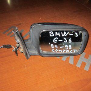 BMW Series 3 E36 1993-2000 compact  καθρέπτης δεξιός ηλεκτρικός μπλέ σκούρο