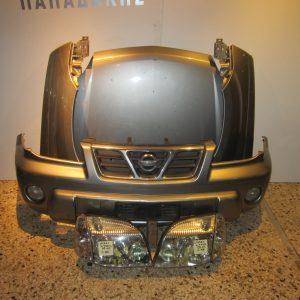 Μετωπη-μουρη εμπρος κομπλε Nissan X-Trail 2006-2008 ασημι (καπο-2 φτερα-προφυλακτηρας με προβολεις-μασκα-2 φαναρια)