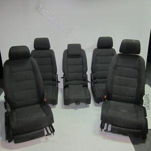 VW Touran 2003-2010 σετ καθισματα γκρι σκουρο
