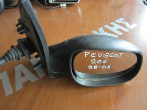 Peugeot 206 1998-2009 καθρεπτης δεξιος μηχανικος αβαφος