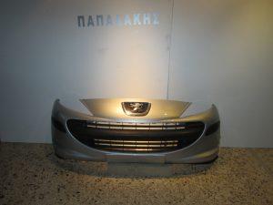 Peugeot 207 2006-2009 προφυλακτήρας εμπρός ασημί